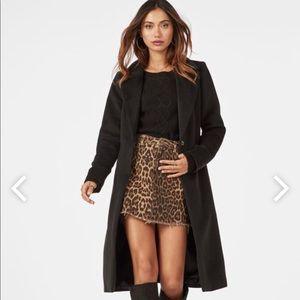 JustFab belted wool long coat